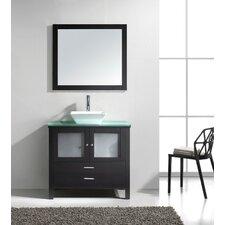 """Brentford Series 36"""" Single Bathroom Vanity Set with Mirror"""