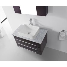 "Ultra Modern Series 33"" Single Bathroom Vanity Set with Mirror"
