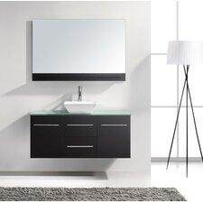 "Marsala 47"" Single Bathroom Vanity Set with Mirror"