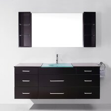 "Ultra Modern Series 59"" Single Bathroom Vanity Set with Mirror"
