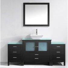 """Brentford Series 71"""" Single Bathroom Vanity Set with Mirror"""