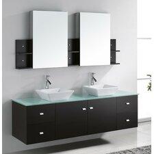 "Clarissa 72"" Double Bathroom Vanity Set with Mirror"