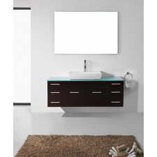 "Biagio 56"" Single Bathroom Vanity Set with Mirror"