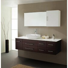 "Justine 60"" Single Bathroom Vanity Set with Mirror"