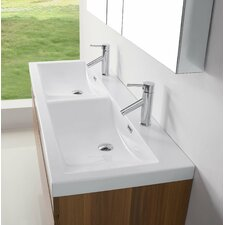 "Zuri 55"" Double Floating Bathroom Vanity Set"