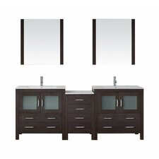 "Dior 82"" Double Bathroom Vanity Set with Mirror"