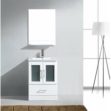 "Zola 24"" Single Bathroom Vanity Set with Mirror"