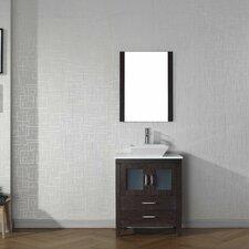 """Dior 28"""" Single Bathroom Vanity Set with Mirror"""
