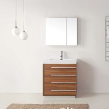 "Bailey 29"" Single Bathroom Vanity Set with Mirror"