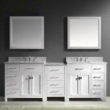 "Caroline Parkway 93"" Double Bathroom Vanity Set with Mirrors"
