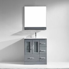 "Zola 30"" Single Bathroom Vanity Set with Mirror"