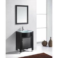 "Ultra Modern 24"" Single Bathroom Vanity Set with Mirror"