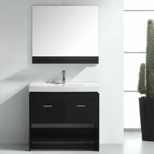 "Gloria 35"" Single Bathroom Vanity Set with Mirror"