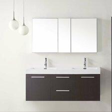 """Midori 54"""" Double Floating Bathroom Vanity Set"""