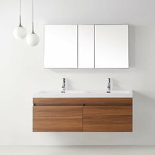 "Zuri 55"" Double Floating Bathroom Vanity Set"