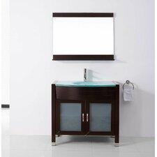 """Ultra Modern Series 36"""" Single Bathroom Vanity Set with Mirror"""