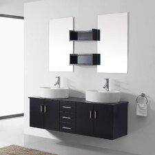 "Enya 59"" Double Bathroom Vanity Set with Mirror"