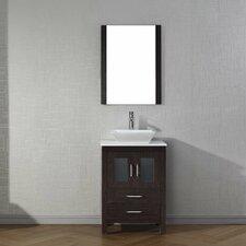 """Dior 25"""" Single Bathroom Vanity Set with Mirror"""
