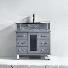 """Vincente Series 32"""" Single Bathroom Vanity Set"""