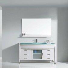 "Ava 55"" Single Bathroom Vanity Set with Mirror"