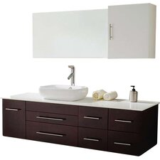 "Justine 59"" Single Bathroom Vanity Set with Mirror"