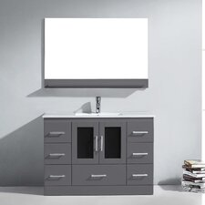 "Zola 47.5"" Single Bathroom Vanity Set with Ceramic and Mirror"