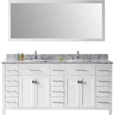 "Caroline Parkway 72"" Bathroom Vanity Cabinet"