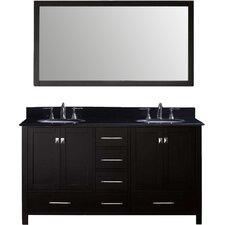 "Caroline Avenue 60"" Bathroom Vanity Cabinet"
