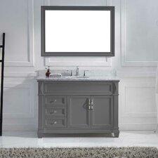 "Victoria 48"" Single Bathroom Vanity Set with Carrara White Stone Top"