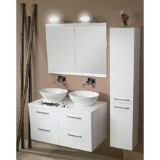 """Aurora 37"""" Double Bathroom Vanity Set with Mirror"""