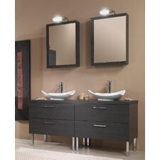 """Aurora 61"""" Double Bathroom Vanity Set"""