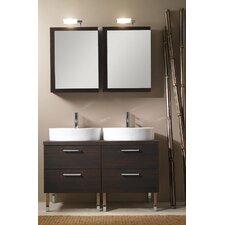 """Aurora 45"""" Double Bathroom Vanity Set with Mirror"""