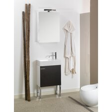 "Lola 21"" Single Wall Mounted Bathroom Vanity Set with Mirror"