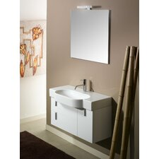 "Enjoy NE4 35"" Single Wall Mounted Bathroom Vanity Set with Mirror"