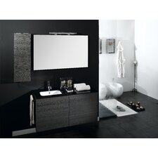 "Time 47"" Single Wall Mounted Bathroom Vanity Set with Mirror"