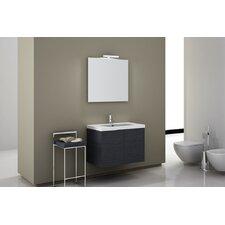 "Space 32"" Single Wall Mount Bathroom Vanity Set with Mirror"