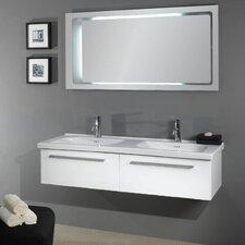 "Fly 57"" Double Bathroom Vanity Set with Mirror"
