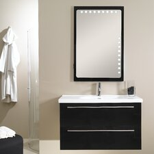 "Fly 41"" Single Wall Mounted Bathroom Vanity Set with Mirror"