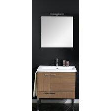 "Simple 30"" Single Wall Mounted Bathroom Vanity Set with Mirror"