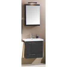 "Simple 23"" Single Wall Mounted Bathroom Vanity Set with Mirror"