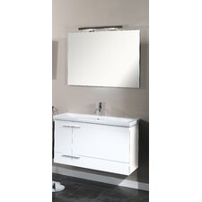 "Simple 39"" Single Wall Mounted Bathroom Vanity Set with Mirror"
