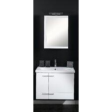"Simple 32"" Single Wall Mounted Bathroom Vanity Set with Mirror"