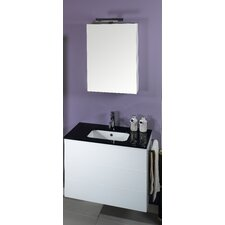 """Time 32"""" Single Wall Mounted Bathroom Vanity Set with Mirror"""