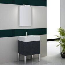 "Smile 32"" Single Footed Bathroom Vanity Set with Mirror"