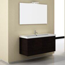 "Space 47"" Single Wall Mount Bathroom Vanity Set with Mirror"
