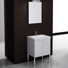 "Trendy 24"" Single Footed Bathroom Vanity Set with Mirror"