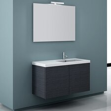 "Space 39"" Single Wall Mount Bathroom Vanity Set with Mirror"