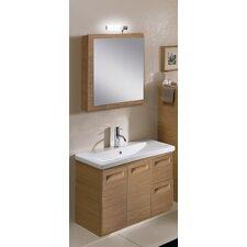 "Integral 32"" Single Wall Mounted Bathroom Vanity Set with Mirror"