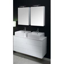 """Time 47"""" Double Wall Mounted Bathroom Vanity Set"""