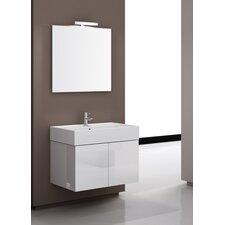 "Smile 32"" Single Wall Mount Bathroom Vanity Set with Mirror"